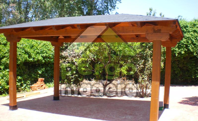 Cenadores de madera fotos imagenes galeria videos - Cenadores de madera para jardin ...