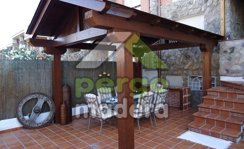 Cenadores de madera rusticos materiales de construcci n para la reparaci n - Construccion de pergolas de madera ...